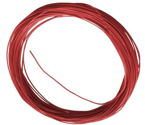 Câble rouge flexible, 10 m, diamètre : 0,6 mm
