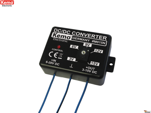 Convertisseur de tension Kemo M015N DC/DC réglable 3-15 V