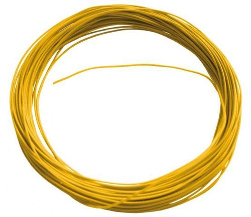 Câble jaune flexible, 10 m, diamètre : 0,6 mm