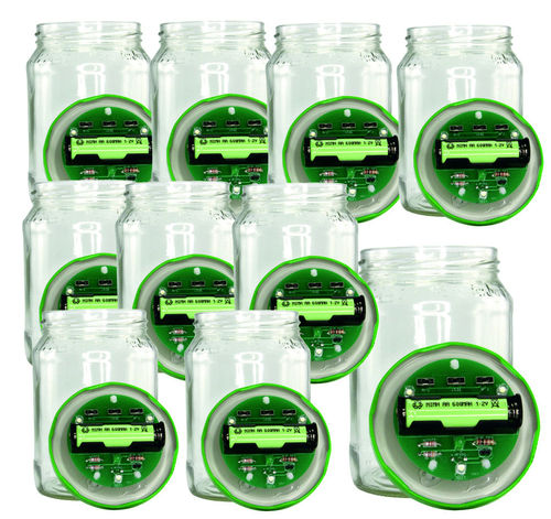 10 kits alimentation solaire lampe bocal